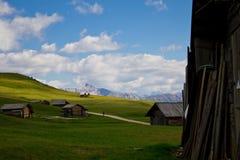 Terre di pascolo in Alta Badia Fotografie Stock