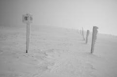 Terre en friche de l'hiver Images stock