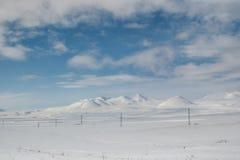 Terre en friche de neige Photographie stock libre de droits