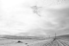 Terre en friche de neige Images stock