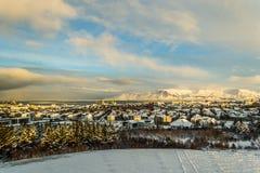 Terre Islande d'hiver Image libre de droits