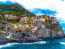 Terre Italien Manarola Marina Cinque stockfotos
