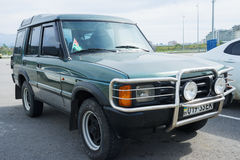 Terre Rover Discovery Off Road 4x4 garé photographie stock