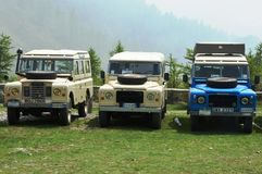 Terre Rover Series III e V8 images stock