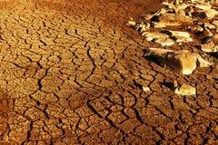 Terre sèche avec le modèle photographie stock