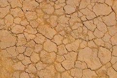 Terre sèche dans le désert Photo libre de droits