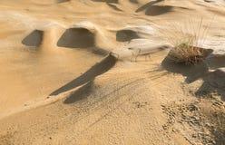 Terre sèche de désert avec des dunes de sable Image libre de droits