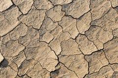 Terre sèche, la terre criquée, sans eau Photographie stock libre de droits