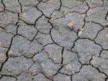 Terre sèche noire Photo libre de droits