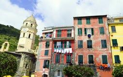 Terre tipico Italia del parco nazionale 5 delle case di Vernazza Fotografia Stock
