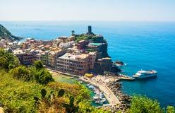 5 Terre Vernazza, Liguria Italien Royaltyfri Bild