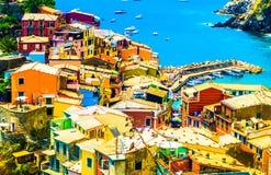 5 Terre Vernazza, Liguria Italien Royaltyfri Fotografi
