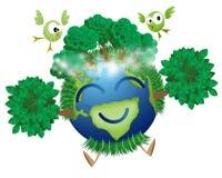 Terre verte illustration de vecteur
