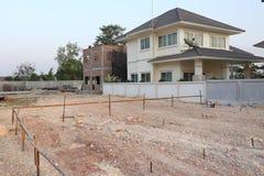 Terre vide utilisée pour le bâtiment de construction Image libre de droits
