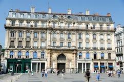 Terreaux-Quadrat in Lyon-Stadt lizenzfreie stockfotos