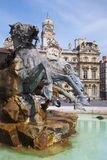 Terreaux square with fountain Royalty Free Stock Image