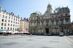 Terreaux square in Lyon city Royalty Free Stock Photo