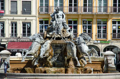 Terreaux square in Lyon city Royalty Free Stock Images