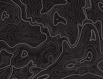 Terreinkaart De topografische het de contouren aangeven van textuur van de lijncartografie Topografische hulpkaart Geografische v royalty-vrije illustratie