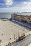 Terreiro fa Paço - Lisbona fotografia stock libera da diritti