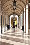 Terreiro gör Paco Commerce Square Lisbon Arkivbilder