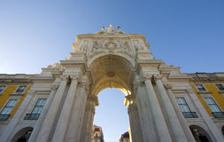 Terreiro hace Paço - Lisboa, Portugal Imagen de archivo libre de regalías