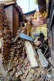 Terremoti del Nepal Fotografia Stock