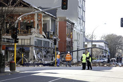 Terremoto 4 setembro 2010 de Christchurch Foto de Stock Royalty Free