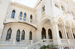 Terremoto danificado do palácio de Vergara desde 2010 - Vina Del Mar - o Chile Fotografia de Stock