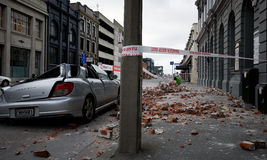 Terremoto de Christchurch Foto de Stock