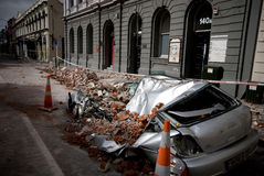 Terremoto de Christchurch Fotos de Stock Royalty Free
