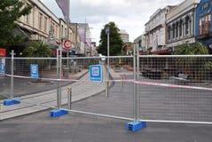 Terremoto de Christchurch - alameda da rua de Cashel Fotos de Stock