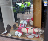 Terremoto de Christchurch - ascensões do pedágio do corpo de Manequin Imagens de Stock