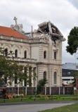 Terremoto de Christchurch - catedral católica imágenes de archivo libres de regalías