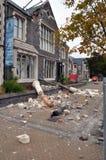 Terremoto de Christchurch - daño del centro de los artes Fotografía de archivo