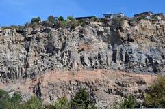 Terremoto de Christchurch - derrumbamiento de los acantilados de Sumner Foto de archivo