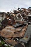 Terremoto de Christchurch - escombros de la calle de Durham Foto de archivo