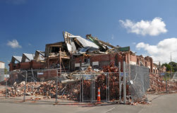 Terremoto de Christchurch - fábrica destruída Imagens de Stock