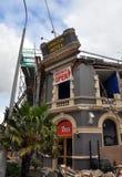 Terremoto de Christchurch - hotel de Carlton Imágenes de archivo libres de regalías
