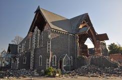 Terremoto de Christchurch - iglesia del St. Lukes Imágenes de archivo libres de regalías