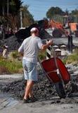 Terremoto de Christchurch - la limpieza grande Fotografía de archivo libre de regalías