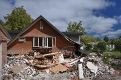 Terremoto de Christchurch - pista de Helmores Fotos de Stock Royalty Free