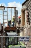 Terremoto de Christchurch - trabalhadores da construção Fotografia de Stock