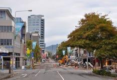 Terremoto de Christchurch - una ojeada del infierno Foto de archivo libre de regalías