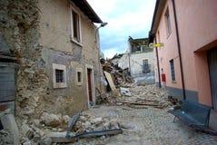 Terremoto de Italia foto de archivo