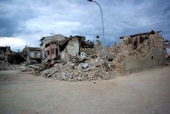 Terremoto de Italy imagem de stock