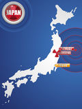 Terremoto de Japão e disastre 2011 do tsunami Foto de Stock