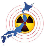 Terremoto de Japão, tsunami e disastre nuclear Fotografia de Stock Royalty Free