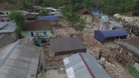 Terremoto 2018 de Lombok almacen de metraje de vídeo