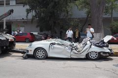 Terremoto de México imagen de archivo